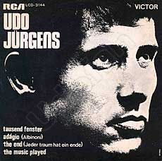 Udo Jürgens - Tausend Fenster / The End (Jeder Traum hat ein Ende) / Adagio / The music played - Vinyl-EP Front-Cover