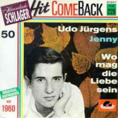 "Udo Jürgens - Jenny / Wo mag die Liebe sein - Vinyl-Single (7"") Front-Cover"