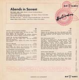 Abends in Sorrent - Vinyl-EP Back-Cover