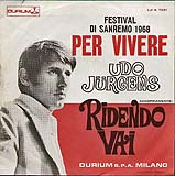 "Udo Jürgens - Per vivere / Ridendo vai - Vinyl-Single (7"") Back-Cover"