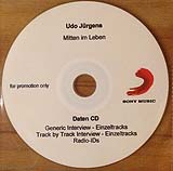 Udo Jürgens - Mitten im Leben - Daten CD - Generic- / Track-by-Track-Interview - Radio-IDs - CD Front-Cover