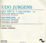 "Udo Jürgens - Qui est-il / Mayerling - Vinyl-Single (7"") Back-Cover"