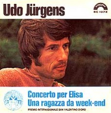 "Udo Jürgens - Concerto per Elisa / Una ragazza da weekend - Vinyl-Single (7"") Front-Cover"