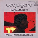 Leave a little love / Even an angel has bad days - Front-Cover