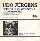 "Udo Jürgens - Buenos Dias Argentina / Wayward Girl - Vinyl-Single (7"") Back-Cover"