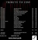 Udo Jürgens - Tribute to Udo (Move Ya) - CD Back-Cover